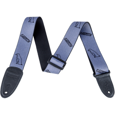 NEW!! Gretsch Penguin Poly Strap_Grey and Black,  - Gretsch Gear