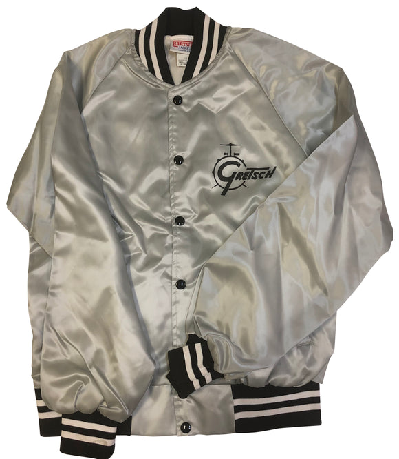 Vintage Gretsch Drum Satin Jacket, Silver (Small Only) - GretschGear