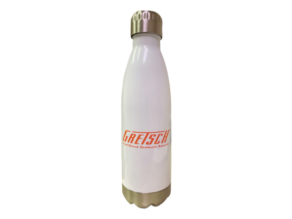 Gretsch 17oz Stainless Steel Water Bottle, White,  - Gretsch Gear