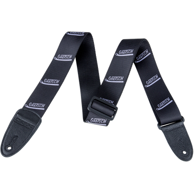 Gretsch Vibrato Arm Poly Strap_Black and Grey - GretschGear