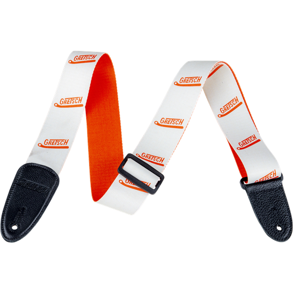 Gretsch Vibrato Arm Poly Strap_Orange and White,  - Gretsch Gear