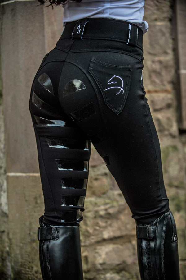 AIVER SPORT 4D-Gel Breeches, BLACK