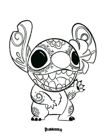 download the stitch popmuerto coloring page pdf