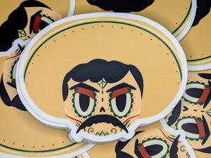 elimiliano zapata mexican revolutionary sugar skull vinyl sticker