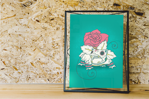 Venusaur - Pokémon Day of the Dead Mashup Art Print