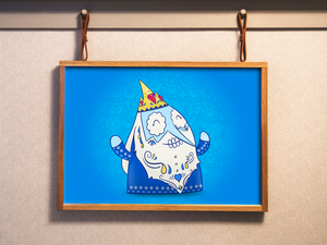 Ice King - Adventure Time | Day of the Dead Mashup Art Print