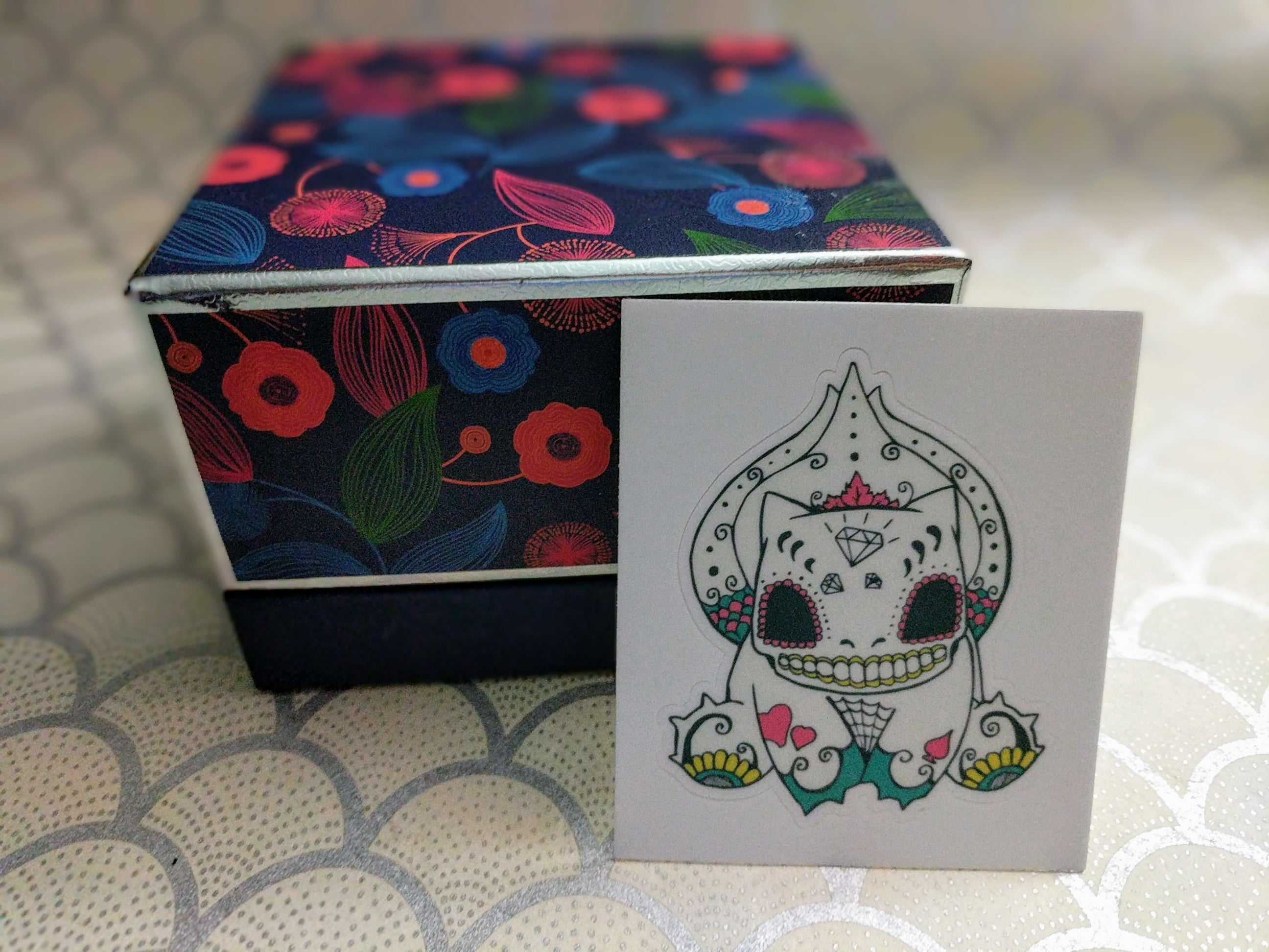 "Bulbasaur - Pokemon | Day of the Dead 3""x3"" Sticker"