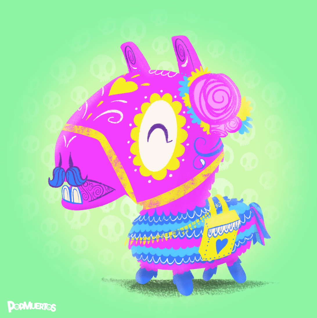 Loot Llama - Fortnite | Day of the Dead Mashup Art Print