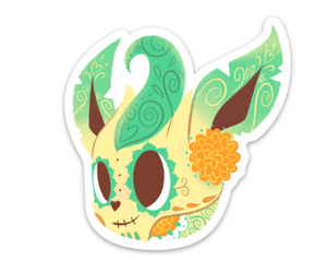 "Leafeon - Pokemon | Day of the Dead 3""x3"" Sticker"