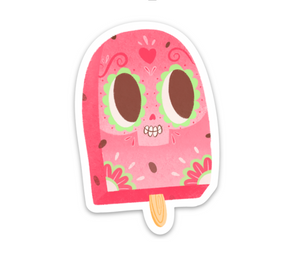"Sandia Paleta | Day of the Dead 3""x3"" Sticker"