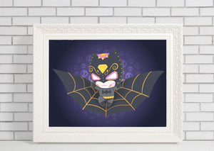 Batman | Day of the Dead Mashup Art Print