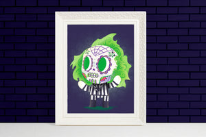 beetlejuice day of the dead mashup gift illustration