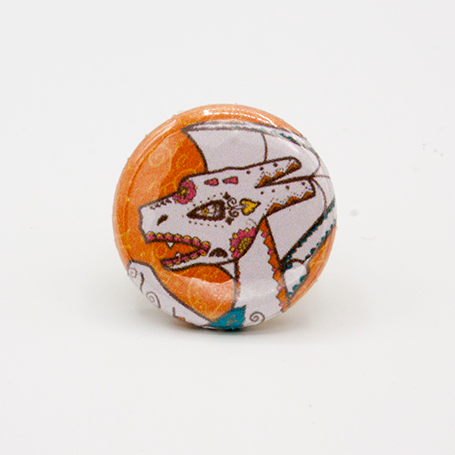 charizard pinback button mini