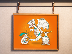 Charmander Evolutions - Pokémon Day of the Dead Mashup Art Print