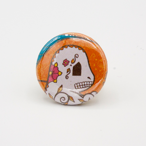 Charmander - Pokemon Day of the Dead Mashup Pin