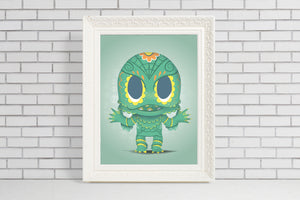 creature from the black lagoon sugar skull gift illustration
