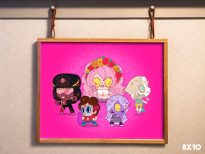 The Crystal Gems - Steven Universe Day of the Dead Mashup Art Print