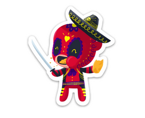 "Deadpool | Day of the Dead 3""x3"" Sticker"