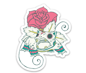 "Venusaur - Pokemon | Day of the Dead 3""x3"" Sticker"
