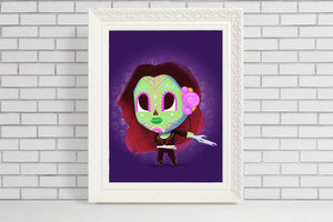 gamora guardians of the galaxy day of the dead print gift