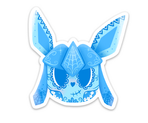 "Glaceon - Pokemon Eeveelution | Day of the Dead 3""x3"" Sticker"