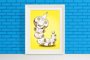 Weedle - Pokémon Day of the Dead Mashup Art Print
