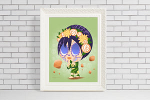 Toph Beifong - Avatar the Last Airbender | Day of the Dead Mashup Art Print