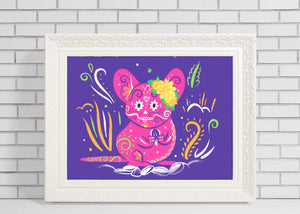 Field Mouse | Day of the Dead Mashup Art Print