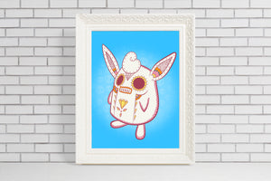 Wigglytuff - Pokémon Day of the Dead Mashup Art Print