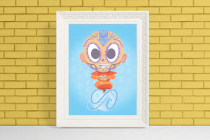 Aang - Avatar the Last Airbender | Day of the Dead Mashup Art Print