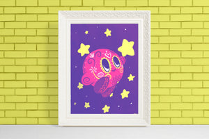 Kirby - Nintendo | Day of the Dead Mashup Art Print