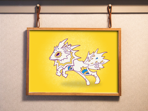 Jolteon - Pokemon | Day of the Dead Mashup Art Print
