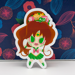 "Sailor Jupiter - Sailor Moon | Day of the Dead 3""x3"" Sticker"