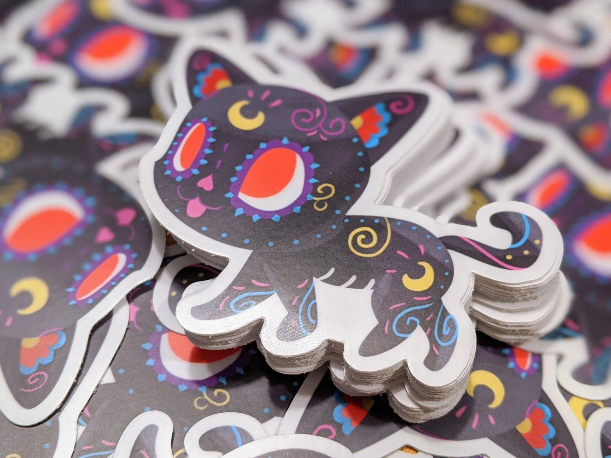 "Luna - Sailor Moon | Day of the Dead 3""x3"" Sticker"