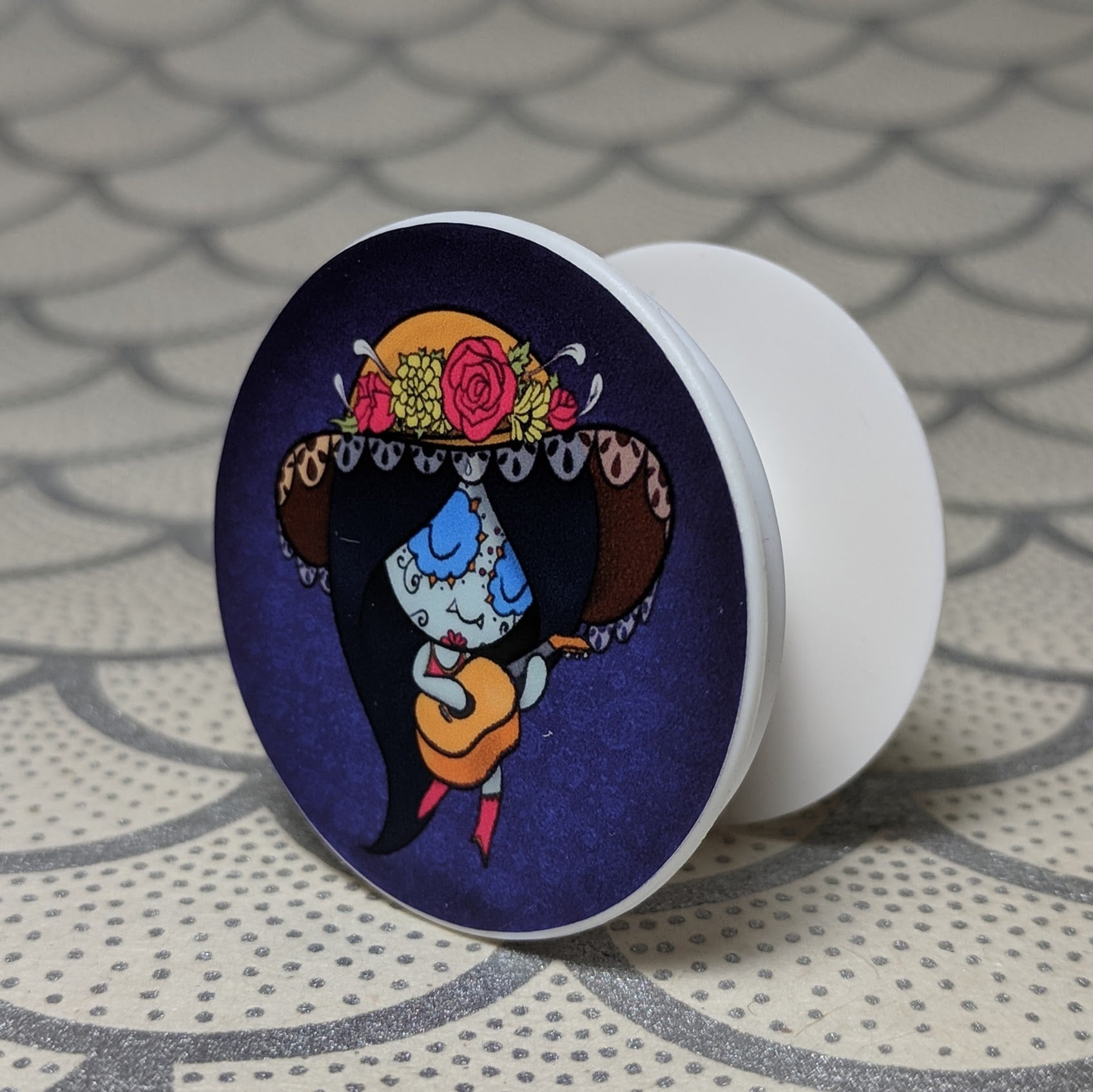 Marceline - Adventure Time Phone Holder | Day of the Dead Mashup