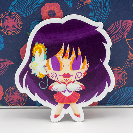 "Sailor Mars - Sailor Moon | Day of the Dead 3""x3"" Sticker"