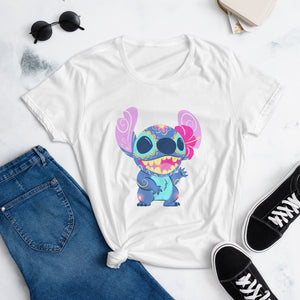 Stitch - Lilo and Stitch | Sugar Skull Mash Up Women's short sleeve t-shirt