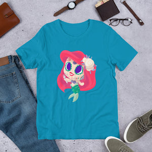 Ariel - Little Mermaid | Sugar Skull Mash Up Short-Sleeve Unisex T-Shirt