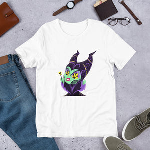 Maleficent - Sleeping Beauty | Sugar Skull Mashup Short-Sleeve Unisex T-Shirt