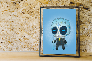 Night King - Game of Thrones | Day of the Dead Mashup Art Print