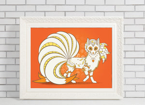 ninetails pokemon day of the dead illustration