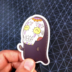 "No Face - Spirited Away | Day of the Dead 3""x3"" Sticker"