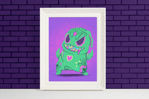 oogie boogie nightmare before christmas sugar skull illustration