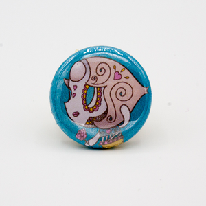 Pearl - Steven Universe Day of the Dead Mashup Pin