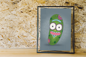 Pickle Rick - Rick and Morty | Day of the Dead Mashup Art Print