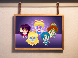 Sailor Scouts - Sailor Moon | Day of the Dead Mashup Art Print