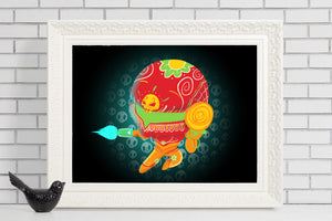 samus aran super metroid sugar skull illustration print