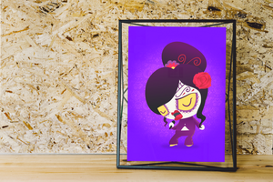 Selena Quintanilla | Day of the Dead Mashup Art Print