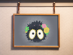 Soot Sprite - Howl's Moving Castle | Day of the Dead Mashup Art Print