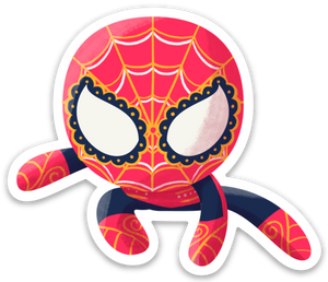 "Spiderman | Day of the Dead 3""x3"" Sticker"